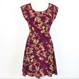 Tea n Rose Paisley Print Mini Dress